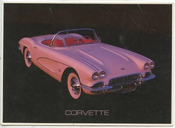 61 CORVETTE CONCOURSE WINNER (rose) Cp Vierge - Passenger Cars
