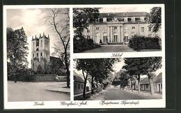 AK Mosigkau, Kirche, Schloss, Hauptmann-Löperstrasse - Deutschland