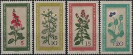 DDR RDA ALLEMAGNE DEMOCRATIQUE  471 à 474 ** Fleur Blume Flower Flora Médécinal - DDR