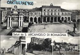 Emilia Romagna-rimini-s.arcangelo Di Romagna Vedute Saluti Da S.arcangelo Anni 50 - Autres Villes