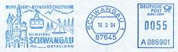 Freistempel 6435 Schloß Neuschwanstein Gundel Segelschiff Gemeindeverwaltung - BRD