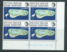 BIOT 1969 Aldabra Coral Atoll R2.25 Single MNH Imprint Block Of 4 - British Indian Ocean Territory (BIOT)