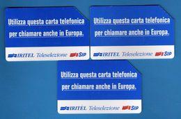 (2Eu) USATA °- IRITE - TELESELEZIONE - C&C.2320-2322-2323 - Mn - .  Vedi Descrizione - Italy