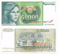 Yugoslavia 50.000 Dinara 1988. UNC P-96 - Yougoslavie