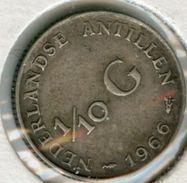 Antilles Neérlandaises Netherlands Antilles 1/10 Gulden 1966 Argent KM 3 - Antillen (Niederländische)