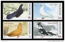 Moldova 2012 Mih. 799/802 Fauna. Birds. Pigeons MNH ** - Moldova