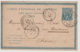 CHI170 /  CHILE - Die SELENE AUSGABE Zu 4 C. Von 1881. Valparaiso - Bordeaux - Chile