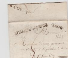 FP191 /  FRANKREICH - St Jean Maurienne (Savoie) 1823 Nach Chambery - Poststempel (Briefe)