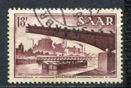 SARRE - Yv. N°  338  (o)   18f  Cote  5 Euros  BE 2 Scans - 1947-56 Allierte Besetzung