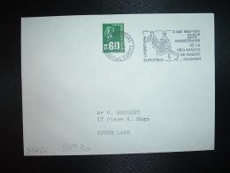 L. TP M.DE BEQUET 0,60 OBL.MEC.12-5-1975 STRASBOURG CONSEIL DE L'EUROPE(67 BAS-RHIN) 9 MAI 1950-1975 25e ANNIVERSAIRE DE - Marcophilie (Lettres)
