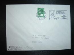 LETTRE TP M.DE BEQUET 0,80 1BP OBL.MEC.25-4-1977 STRASBOURG CONSEIL DE L'EUROPE (67 BAS-RHIN) SESSION DE L'ASSEMBLEE PAR - Storia Postale