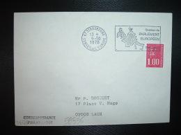 L. TP M.DE BEQUET 1,00 3BP ROULE OBL.MEC.26-4-1977 STRASBOURG CONSEIL DE L'EUROPE(67 BAS-RHIN)SESSION DE L'ASSEMBLEE PAR - Storia Postale