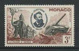 MONACO 1955 N° 429 ** Neuf MNH Superbe Jules Verne La Maison à Vapeur Faune éléphant Char - Monaco
