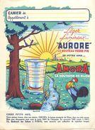 """MOUTARDE """"AMORA"""" - RARE BEAU PROTEGE CAHIER ANCIEN - COMPLET TRES BEL ETAT - VOIR 2 SCANS - AVEC REVERS INTERIEURS - Moutardes"""