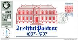 041 Carte Officielle Exposition Internationale Exhibition Espamer FDC 1987 France Institut Louis Pasteur - Louis Pasteur