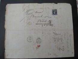 LETTRE AVEC NO 14  Pc THIZY POUR REVEL - 1849-1876: Classic Period