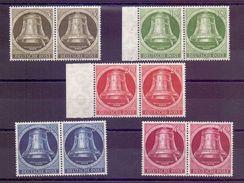 Berlin 1951 - Glocke Rechts MiNr.82/86 In Waage. Paaren - Michel 240,00 € (791) - Used Stamps
