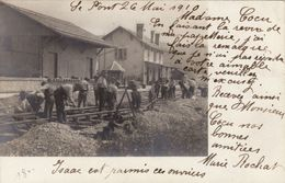 Le Pont 1910 - Travaux à La Gare - Carte Photo Rare - VD Waadt