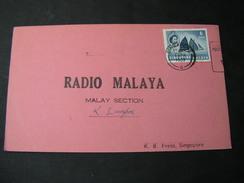 Radio Malaya Card 1957 - Malayan Postal Union