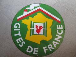 Plaque Emaillee ; Gites De France - Signs