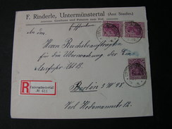 Germani Cv. 1921 Untermünsterthal - Covers & Documents