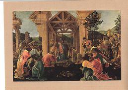 Reproduction Ancienne De L'adoration Des Rois Mages De BOTTICELLI Ft 16,5 X 25 Cm - Estampes & Gravures