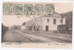 Cpa Walcourt  1908   Gare - Walcourt