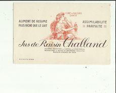 Buvard  De  Sté CHALLAND  S A _JUS DE RAISIN  A NUITS St GEORGES 21 - Papel Secante