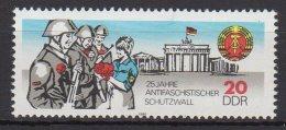 """DDR / 25 Jahre Berliner Mauer (""""Antifaschistischer Schutzwall"""") / MiNr.: 3037 - Unused Stamps"""