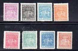 ESPAÑA. AÑO 1921 . Edifil TELEGRAFOS 55/62 (MH) - Telegramas
