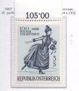 PIA - AUSTRIA -1967  : Centenario Della Società Viennese Di Pattinaggio Su Ghiaccio  -  (Yv  1066) - Pattinaggio Artistico