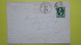 USA Enveloppe Valentine De Brooklyn Pour New York 1916 , Valentine Cover From Brooklyn 1916 - United States