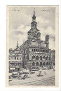 17347 - Posen Rathaus + Cachet Bahnpost Zug 642 - Pologne