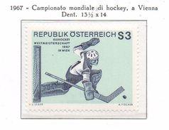 PIA - AUSTRIA -1967  : Campionato Mondiale Di Hockey A Vienna   -  (Yv  1069) - Hockey (su Ghiaccio)
