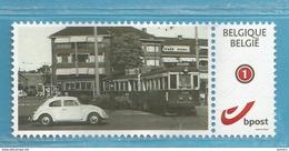 MYSTAMP BELGIUM   // TRA44  //    TRAM  + VW KEVER   ** MNH  .  . ZIE/VOIR SCAN . SUPER SALE - Private Stamps