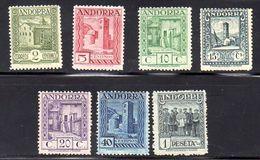 ANDORRA . AÑO 1929. EDIFIL 17/27 (MH) INCOMPLETO - Nuevos