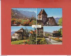 LIECHTSTEIN 1959 VIER ANSICHTEN BELEBTE AK - Liechtenstein
