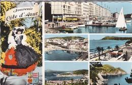 83----SOUVENIR COTE D'AZUR--toulon-la Seyne-les Sablettes-cap Sicie-saint-mandrier--multivues--voir 2 Scans - France