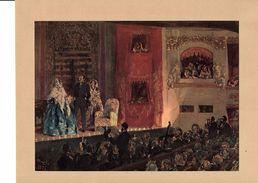 Reproduction Ancienne Théâtre Gymnase 1856 De MENZEL Ft 17 X 23,5 Cm - Estampes & Gravures