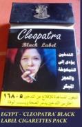 EGYPT - 'CLEOPATRA' BLACK LABEL CIGARETTES PACK - Empty Cigarettes Boxes
