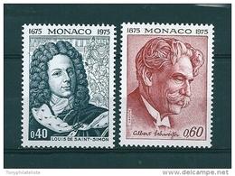 Monaco Timbres Neuf ** De 1975   N° 1010 Et 1011 - Monaco