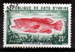 Ivory Coast, Fish, Cephalopholis Taeniops, 1974, VFU - Ivory Coast (1960-...)