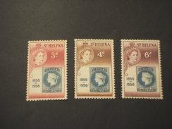 ST. HELENA - 1956 CENTENARIO  3  VALORI - NUOVO(++) - Isola Di Sant'Elena