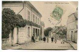 CPA   02 :  COEUVRES  Rue Des Gais Voisins Très Animée   A   VOIR   !!!! - France