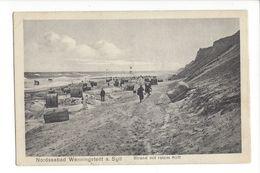 17367 - Nordseebad Wenningstedt A. Sylt Strand Mit Rotem Kliff - Sylt