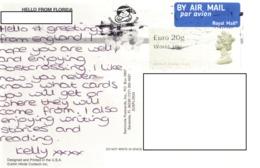 21E : Great Britain QEII World Label Stamp Used On Wildlife Postcard - 1952-.... (Elizabeth II)