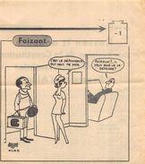 LOT DE 28 DESSINS HUMORISTIQUES DE JACQUES FAIZANT Années 60 - Vieux Papiers