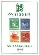 0957g: Meissen- Wiederaufbau 1945 Nachdruck- Block Anlässlich Einer Briefmarkenausstellung - Soviet Zone