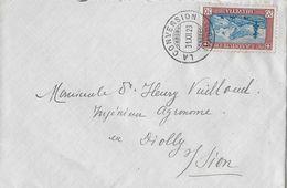 1929 PRO JUVENTUTE → Brief Von LA CONVERSION Nach DIOLLY /Sion  ►SBK-J51◄ - Lettres & Documents