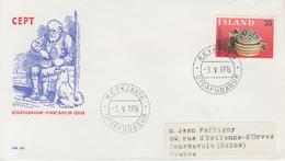 Enveloppe  1er  Jour   ISLANDE    EUROPA     1976 - Europa-CEPT